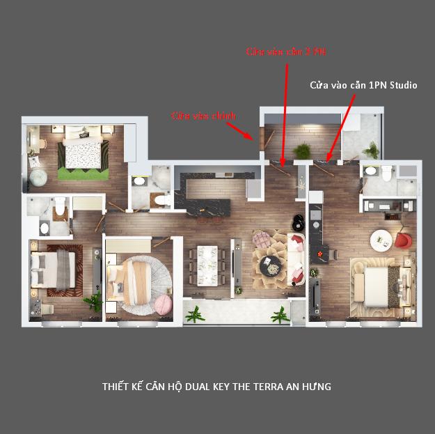 Thiết kế căn hộ dual key terra an hưng