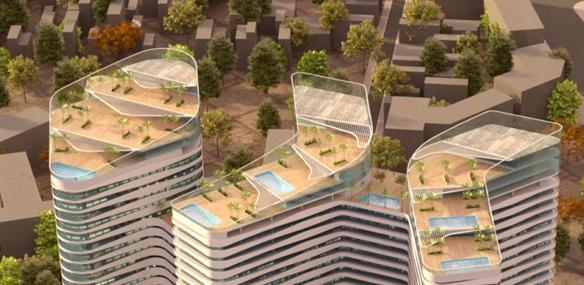 Phối cảnh tầng mái Grandeur Phạm Hùng